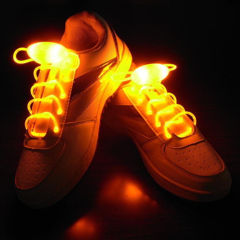 LED light shoelace flash shoelaces luminous shoelaces hip-hop band ghost step dance shoes Luminous Shoelace Glow(China (Mainland))