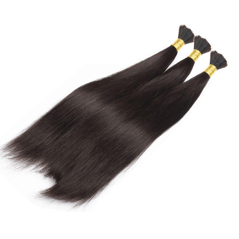 Unprocessed Human Hair For Braiding No Attachment Peruvian Straight Hair Human Braiding Hair Bulk Mixed Length