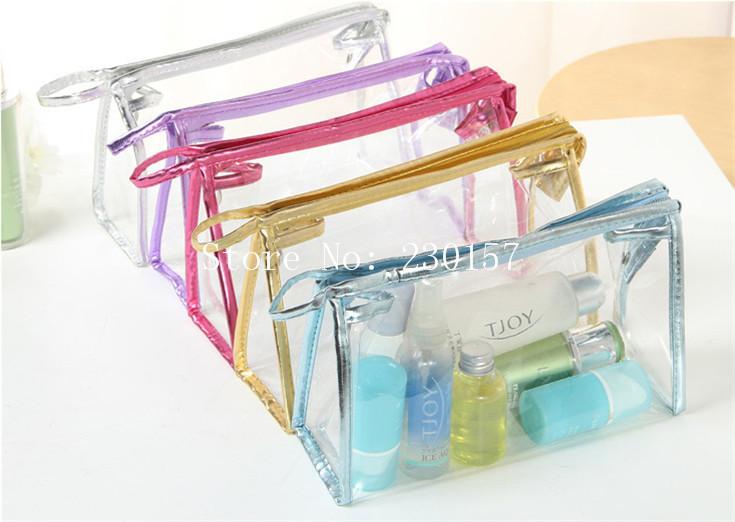 DHL Freeshipping 30pcs Transparent PVC Cosmetic Bags Travel Bag Beauty Case(China (Mainland))