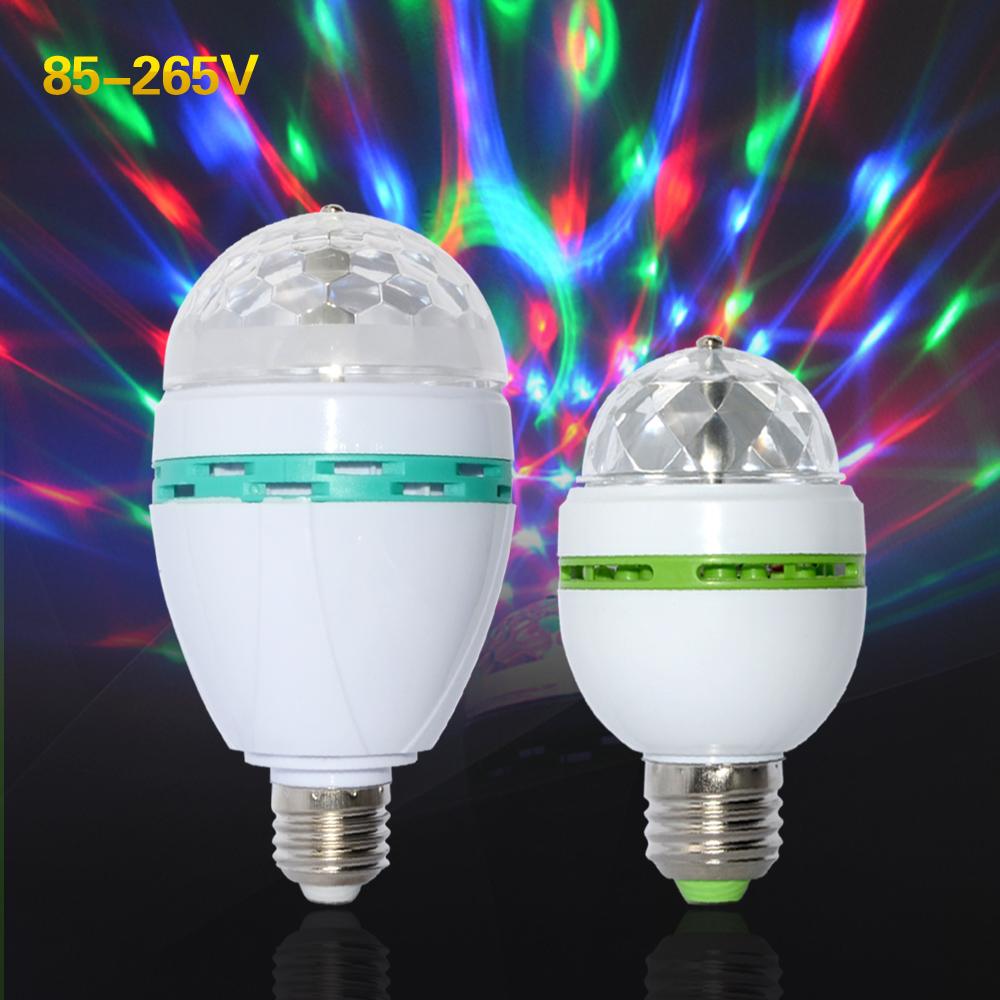KingTop 3W 6W AC85-265V New Colourful RGB Led Spotlight Auto Rotating lighting for holiday/KTV/Bar/Disco Led Lamp lighting 1PCS(China (Mainland))