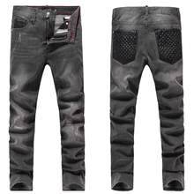 Top quality Free shipping new 2015 fashion mens jeans casual jeans men pants fitness 100% cotton mens trousers (China (Mainland))