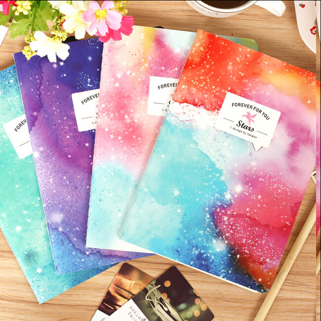 New Romatic Color Starry sky series Kraft paper notebook/journal Diary/stationery Office & School Supplies WJ0203(China (Mainland))