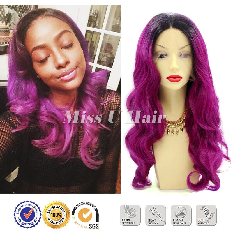 Wavy hair purple wig long purple wig burgundy hair color pictures long purple wig kanekalon<br><br>Aliexpress