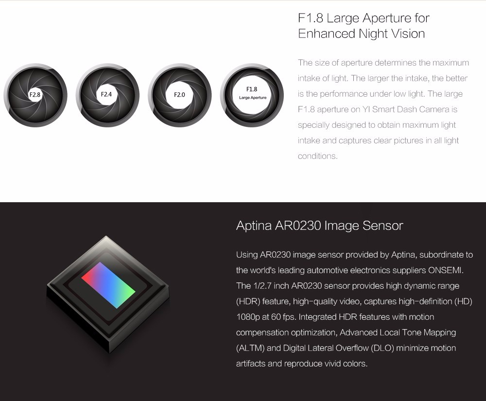 Original Car Dvrs Cam Xiaomi YI Smart Car DVR Wifi Xiaoyi DVR Car Camera 165 Degree Dash 1080 P 60fps Dash for Android & iOS