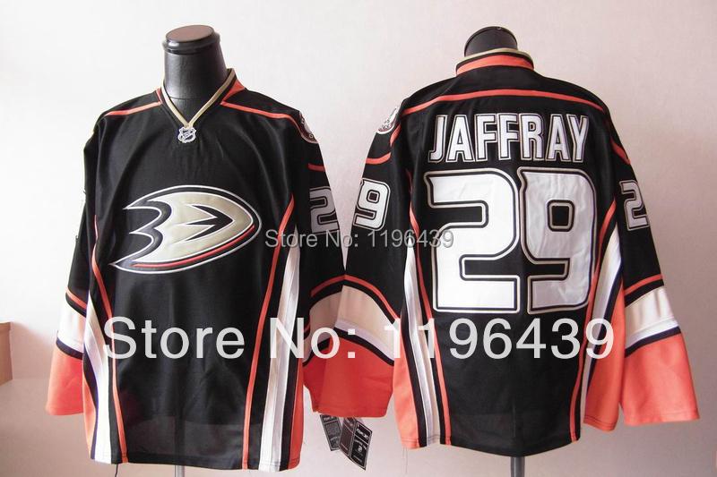 Free Shipping Cheap Anaheim Ducks #29 JERSEY - Jason Jaffray Jersey BLACK hockey 3TH Jerseys Free shipping(China (Mainland))