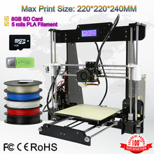 Omni Full Acrylic Reprap Prusa I3 LCD Screen control 3D Printer Machine 3 D Print impressora DIY KIT High Accuracy+4kg Filaments