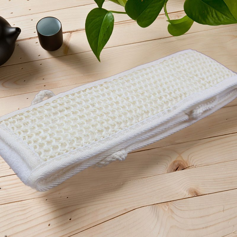 Body Massage Pure Natural Loofah Back Strap Bath Exfoliators Scrubber Brush Loofah Shower Massage Give your Health Cleansing(China (Mainland))