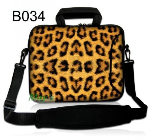 "Fashion Sexy Leopard Shoulder Case Cover Handle Bag Sleeve Pouch 17.3"" 15.6"" 14"" 13.3"" 11.6"" 10.1"" Laptop PC"