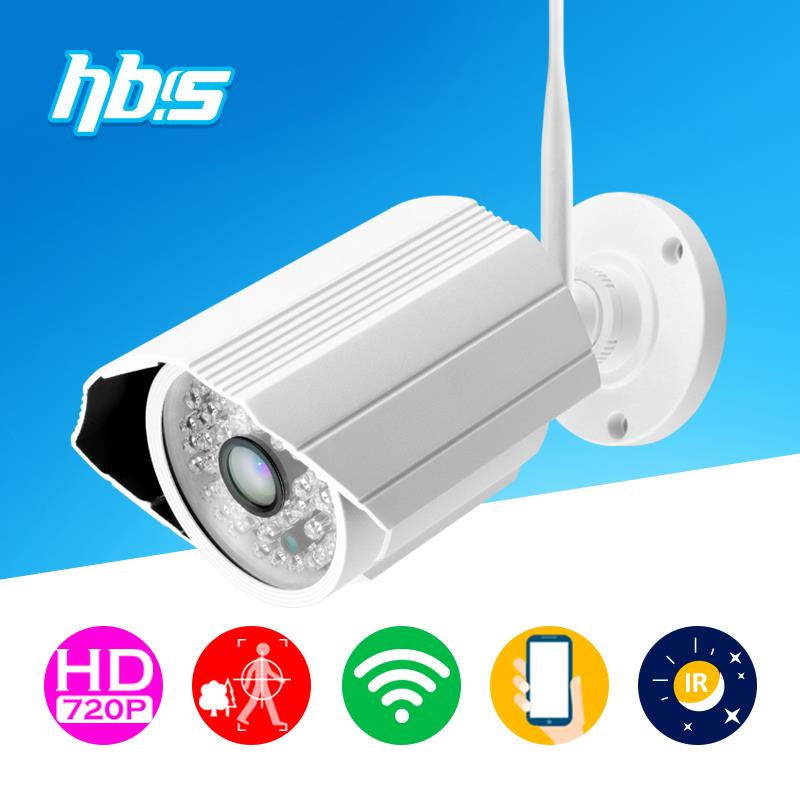 HBSS 1mp wireless ip camera 1280*720P wifi 802.11 b/g/n outdoor waterproof night vision Onvif Surveillance Cameras(China (Mainland))