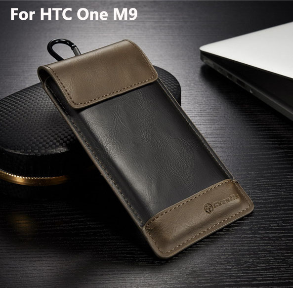 for HTC One M9 Case Universal Outdoor Phone Bag Size XL 4.5~5.2inch Leather Cover for HTC One M9(China (Mainland))