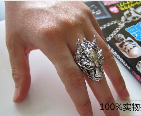 Thai silver retro punk do the old men rings sterling silver tide male models super atmosphere leading index finger rings<br><br>Aliexpress