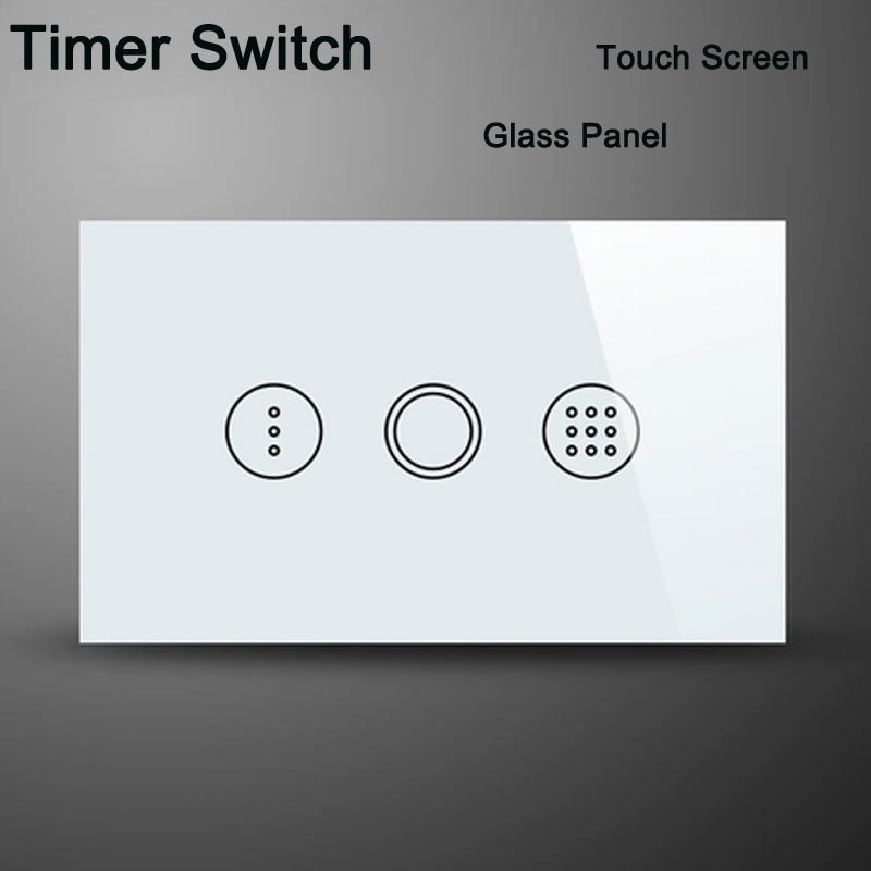 US Standard Wall Touch Light Timer Switch  AC110V Smart Home Touch Screen Crystal Glass Switch Panel Interruptor<br><br>Aliexpress