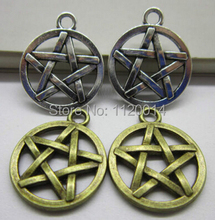 100pcs 2015 New Sale Fashion Jewelry Vintage Tibetan Silver Bronze Alloy Lovely  Pentagram Charms Pentacle Star Pendant 20x16mm(China (Mainland))
