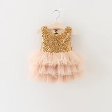 Retail Girl's summer fasion sequins bowknot dress , costumes kids , girls tutu dress , BW22