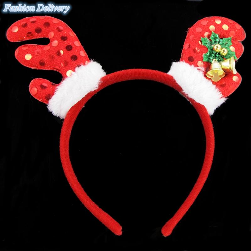 1x Kids Girls Christmas Head Hoop Hair Band Hair Accessories Head Bands Christmas Gift Free Shipping(China (Mainland))