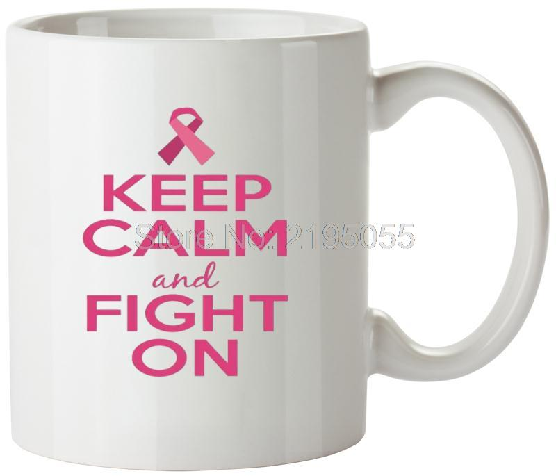 Keep Calm Fight On unique coffee mugs white coffee mugs LOGO mug cup(China (Mainland))