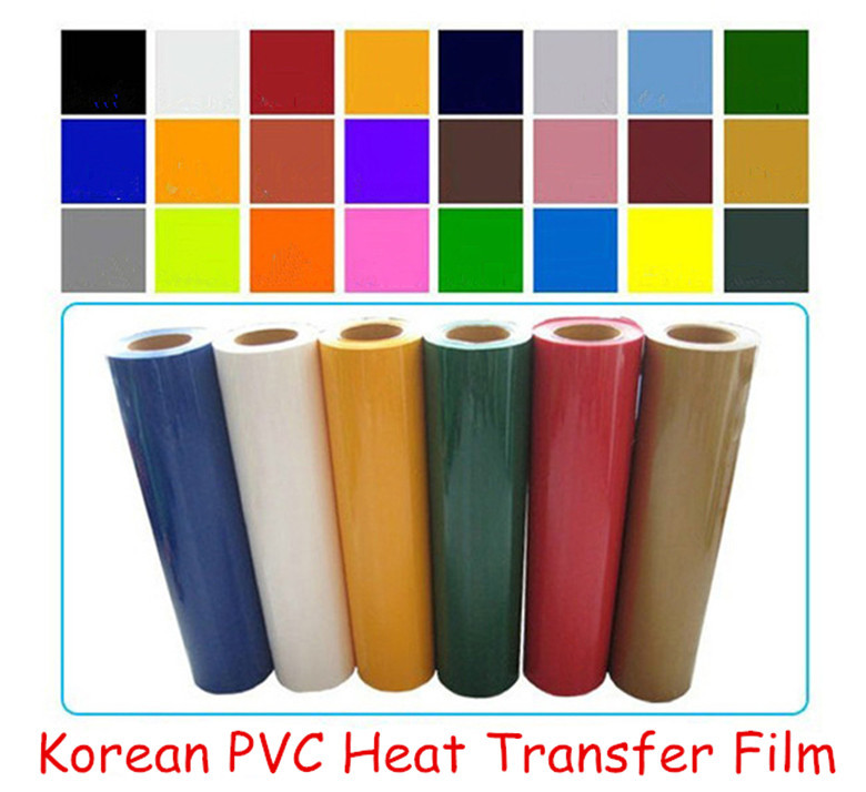 High Quality Korean PVC heat transfer film cutting film clothing coating plating film(China (Mainland))