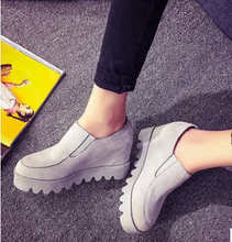 2015 spring female casual platform shoes Increased within Pumps lazy vintage shoes high fashion designer brands TDX361