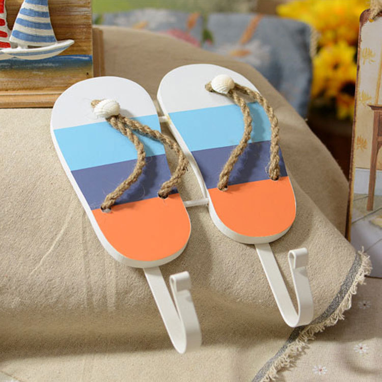 New wall sticker european Mediterranean style for wooden slippers peg wall hook clothes rails coat hooks hanger(China (Mainland))