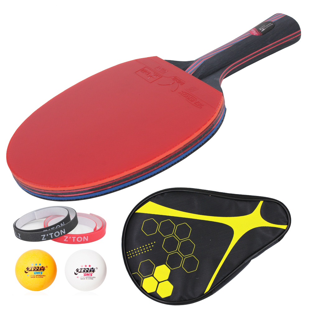 Hybrid Wood 9.8 Brand Quality Table tennis racket Ddouble Pimples-in rubber Ping Pong Racket tenis de mesa table tennis(China (Mainland))