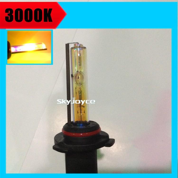2X AC 35W xenon H1 H7 H11 3000K Golden yellow hid xenon lamp H8 H9 9005 9006 HB3 HB4 MARZDA KI A MINI fog lamp hid accessories(China (Mainland))