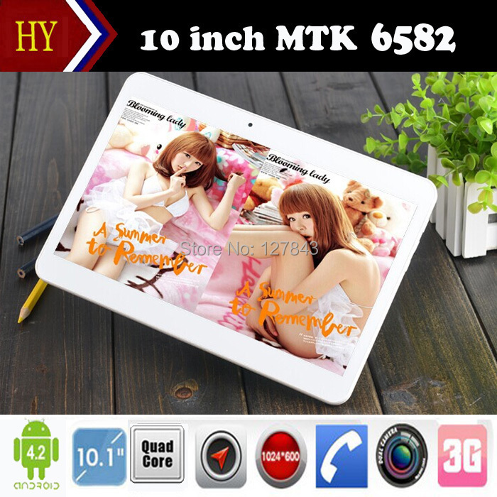 DHL Free Shipping 2015 Newest 10 inch Tablet PC Quad Core MTK6582 3G Phone Call Tablet 2GB RAM 16GB ROM 1024*600 Bluetooth WiFi(China (Mainland))