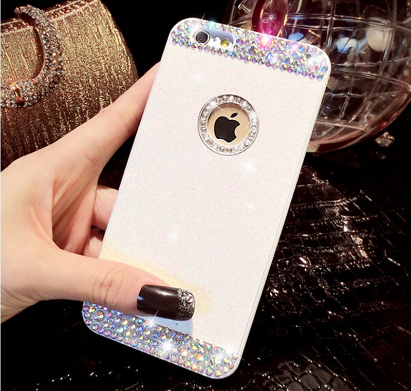 """Top quality Luxury Crystal Rhinestone Rigid Plastic Bling Phone Cases 3D Bling Glitter sparkle Hard Case Cover for iPhone 6 4.7""""(China (Mainland))"""