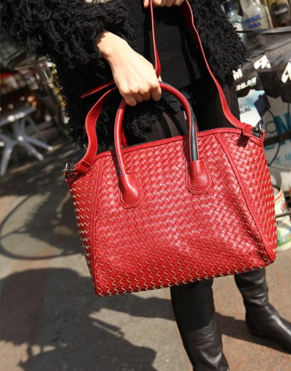 Fashion knitted handbag one shoulder cross-body fashionable casual spring product(China (Mainland))
