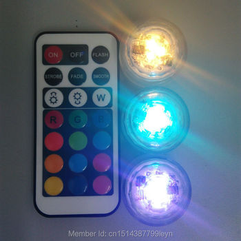 10pcs Wedding Decoration Remote Control Waterproof Submersible Led Party Tea Mini Light With Battery For Halloween Christmas
