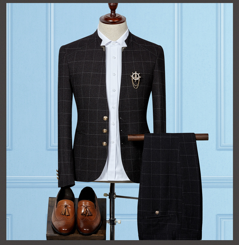 HTB1Sxb8QXXXXXaiXVXXq6xXFXXXK - MS50 2017 Standard Collar Classic Custom Made Men suit Blazers Retro gentleman style tailor made slim fit wedding suits for men