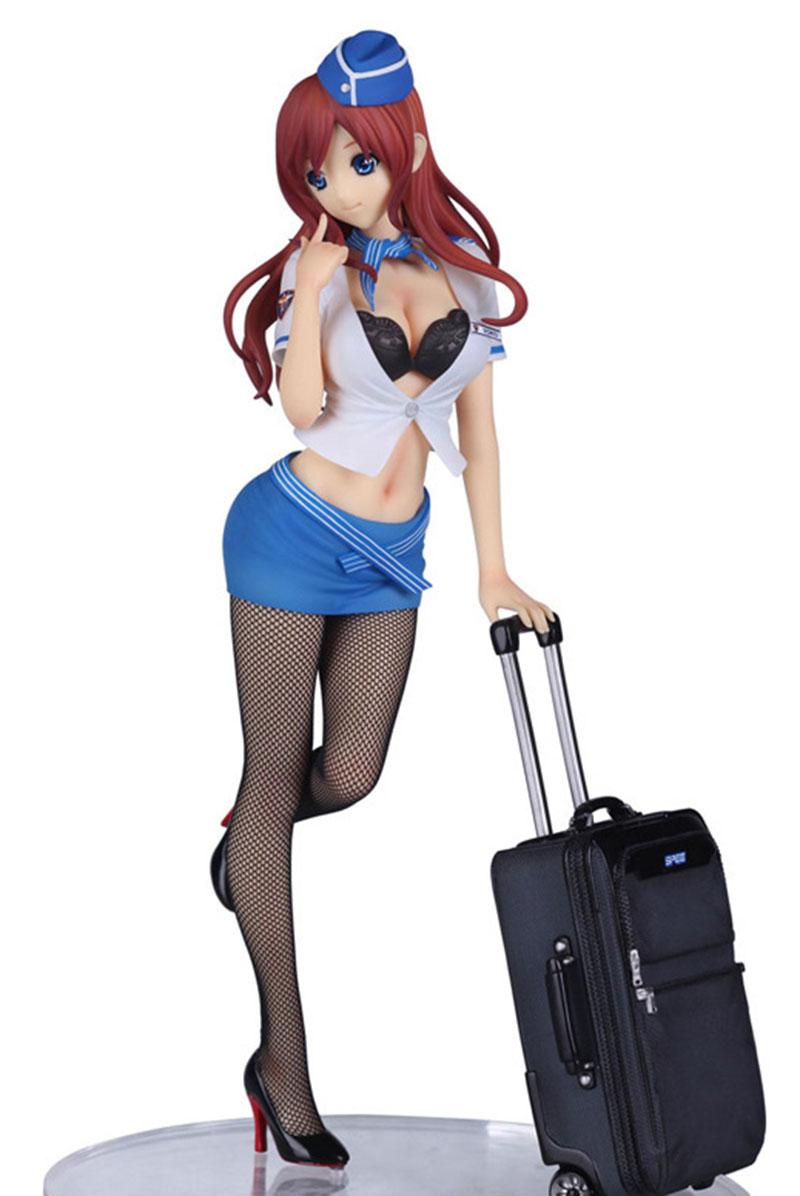 wholesale-Back to the heaven Twilight CA blue flight attendant/stewardess yoko black silk stockings sexy  best action figures<br><br>Aliexpress