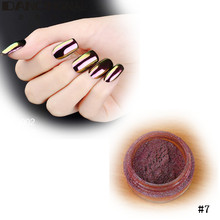 New Fashion 2g Mirror Powder Gold Pigment Ultrafine Powder Chrome Pigments Glitters Nail Art Beauty Tools 4 Colors High Quality(China (Mainland))