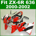 Hot sale Fit for Kawasaki ZX6R fairing kit 2000 2001 2002 ZX 6R 636 00 01