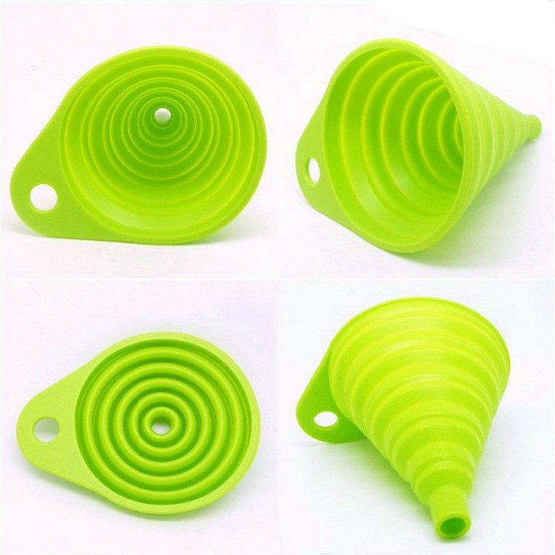 Silicone Collapsible Style Funnel Hopper Models