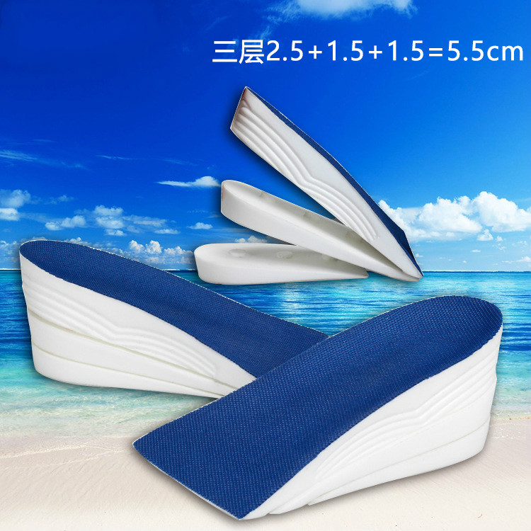 2016 New Increase Half Pad 5cm 3cm Men And Momen Shock Absorbant Insoles Narrow(aa,n) Movement Insole Height Increased Insoles(China (Mainland))