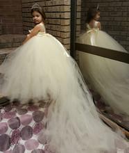 Girls flower girl wedding dress long section entrusted tuxedo girl princess tutu dress 2015 new autumn and winter fashion show