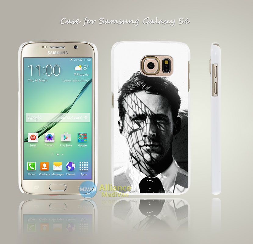 ha81 ryan gosling actor face Style Hard White Case Cover Coque for Samsung Galaxy S3 S4 Mini S5 S6 S6 Edge(China (Mainland))