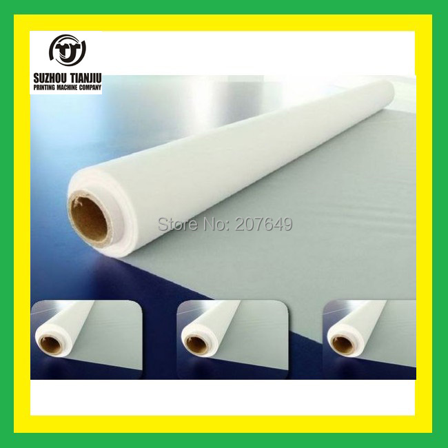 TJ 100Mesh(40T) polyester Silk screen printing mesh,color is white,width=1.27meter,5 meters(China (Mainland))
