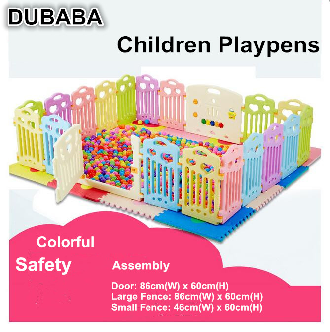 Plastic Children Guardrail Assembly infant baby crawing toddler safety fence Playpens(China (Mainland))