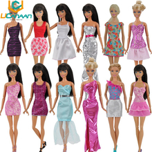 UCanaan Randomly Lot 20 Pcs = 10 Shoes +10 Sets Fashion Outfit Blouse Trousers Dress Shorts Pants Skirt Clothes For Barbie Doll(China (Mainland))