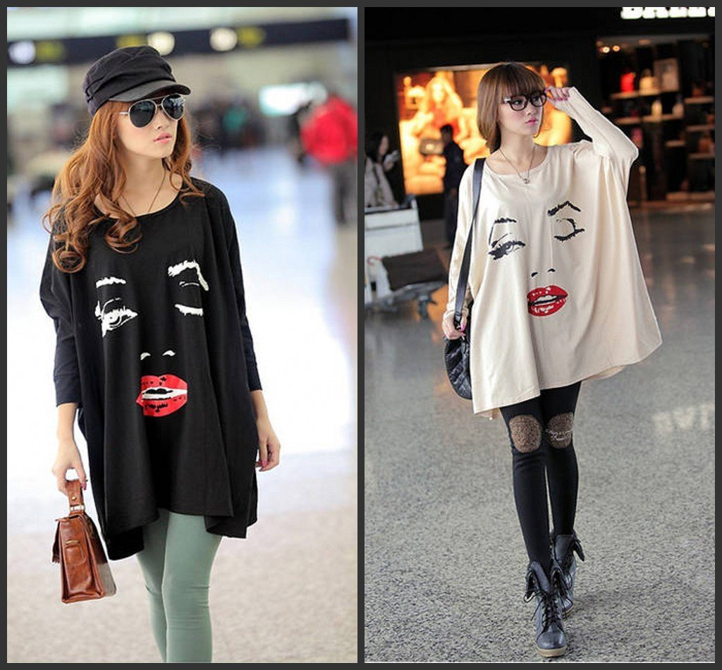 2012 summer chic women personalized tshirts loose batwing for Trendy t shirts for ladies
