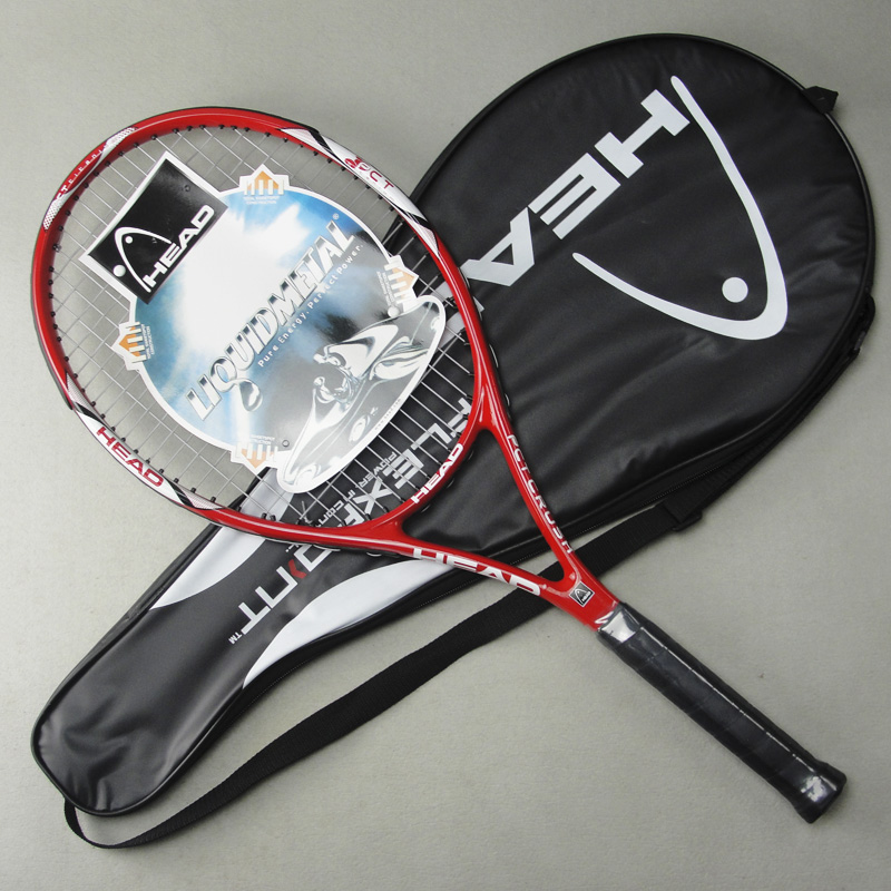 Tennis Racket High Quality Head Carbon Fiber Tennis Racket Racquets Pure Drive Equipped with Bag Tennis Grip Size: 4 1/4(China (Mainland))
