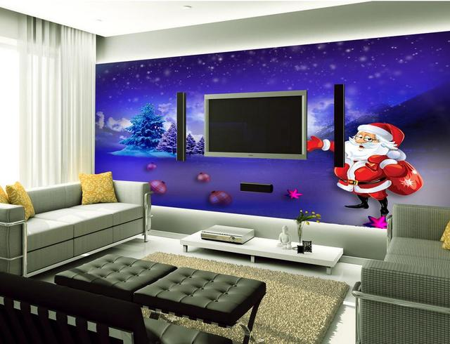 Custom 3d photo wallpaper 3d landscape wallpaper modern for Purple living room wallpaper