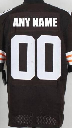 Customized Custom Made Brown Orange White Personalized Stitched CB American Football Jerseys Cheap(China (Mainland))