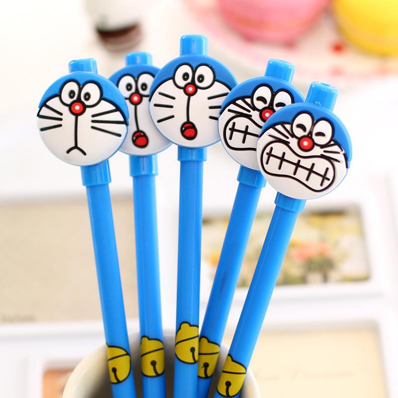 1 PC / PACK QS22 Creative Korea stationery cute jingle cats aqueous 0.38mm Gel Ink Pen Random Color