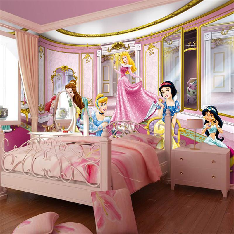 Online kopen wholesale prinses muurschildering behang uit china prinses muurschildering behang - Thema slaapkamer meisje ...