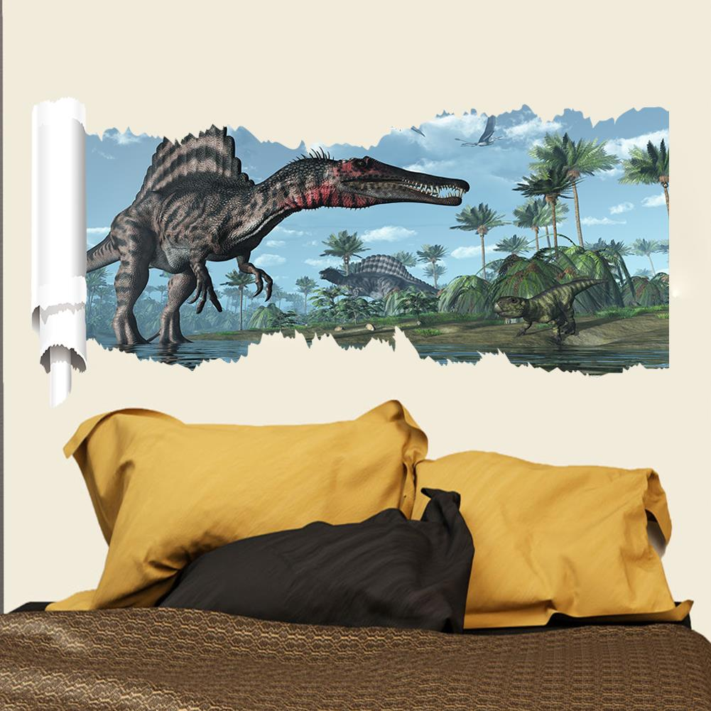 3d world park dinosaurs wall stickers for kids rooms boy for Dinosaur wall decals for kids rooms