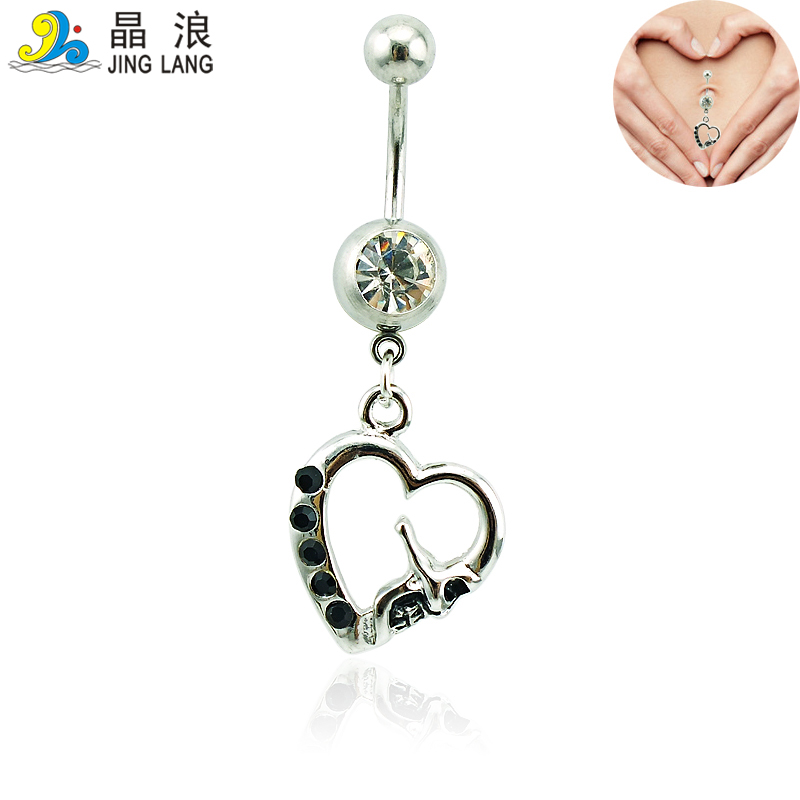 Body piercing belly button rings 316l stainless steel for Belly button jewelry store