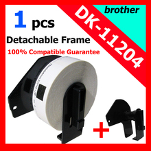 8x Rolls Brother Compatible Labels DK-11204, label size: 17 x 54mm, 400 labels per roll, DK 11204, DK 1204