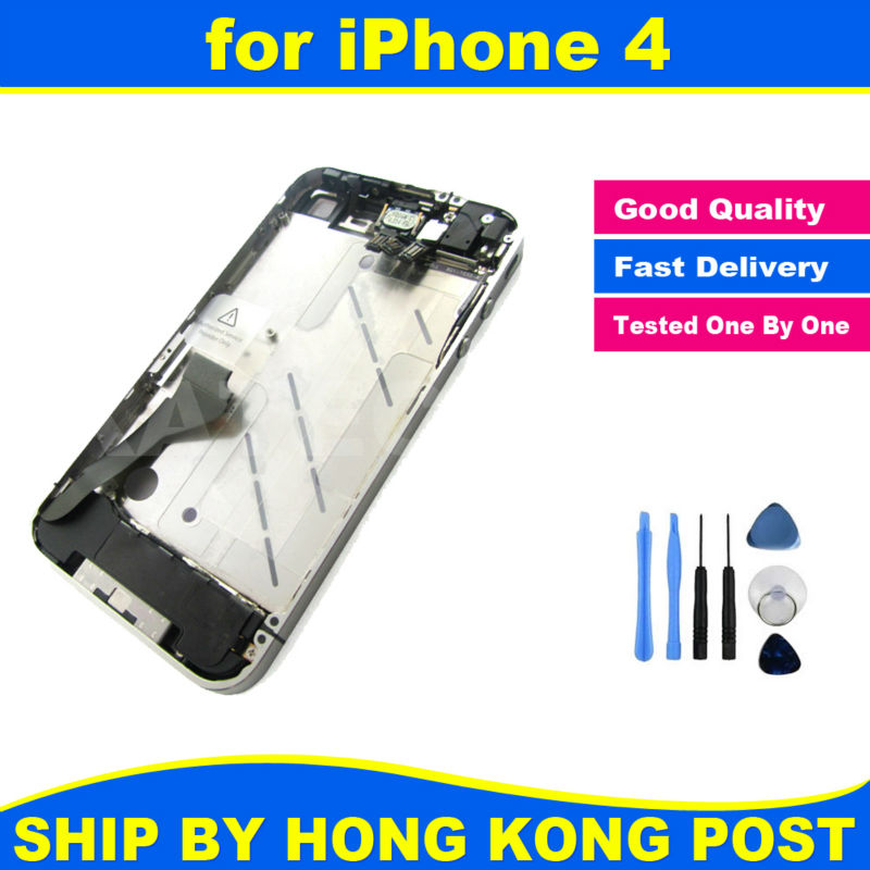 Chassis New Full Parts for iPhone 4 4G Middle Frame Bezel Midframe Housing Assembly Replacement Parts + Repair Tool Kit(China (Mainland))